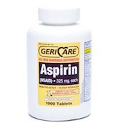 Aspirin (acetylsalicylic acid) products with the fewest additives ...