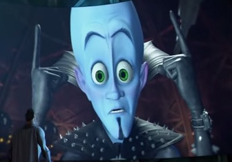 Megamind's big blue head