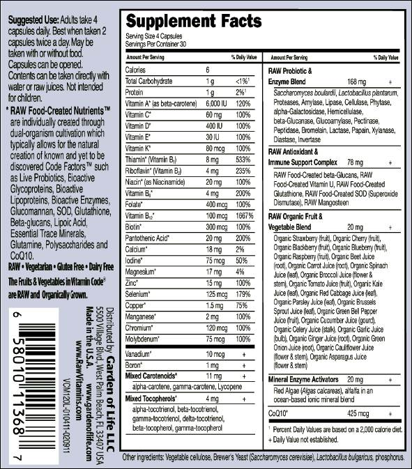 Multivitamins with the fewest additives and contaminants - Garden of life multivitamin for men ...