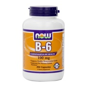 Photo of NOW Foods Vitamin B-6 (Capsules)